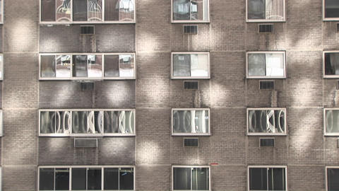Sunlight, shadows and windows make an interesting urban... Stock Video Footage