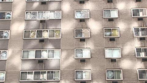 Sunlight, shadows and windows make an interesting urban... Stock Video Footage