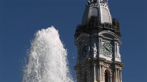 Philadelphia's historic, ornate City Hall building is... Stock Video Footage