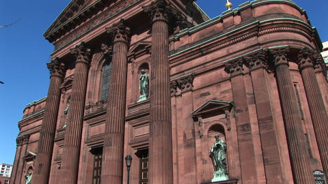 The Basilica of St. Peter and St. Paul in Philadelphia Stock Video Footage