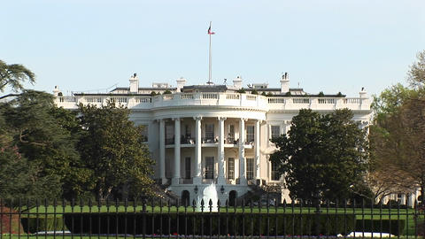 The American Flag atop the White House Stock Video Footage