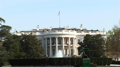 A long-shot of the beautiful White House in Washington DC Footage