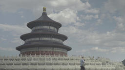 Beijing. China. Temple Of Heaven (Tiantan Park). Beijing Architecture Footage