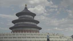 Beijing. China. Temple Of Heaven (Tiantan Park). Beijing Architecture Footage