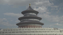 Architecture Of China. The Temple of Heaven in Beijing Footage