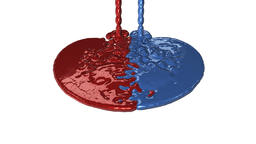 Paint Red and Blue Leakage, reveling Animation