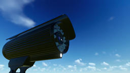 Outdoor Surveillance Camera, timelapse clouds Stock Video Footage