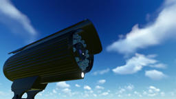 Outdoor Surveillance Camera, timelapse clouds Animation