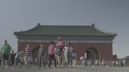Building in traditional Chinese style in the Park. Beijing. China Footage
