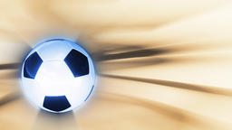 Soccer ball rotating against light background, loop Animation