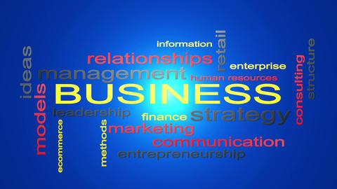 Business Strategy Management Word Cloud Text Animation 애니메이션