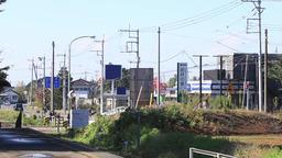 Urban area of rural area of Japan Footage