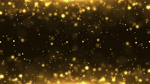 Particles gold glitter bokeh award dust abstract background loop 20 Animation