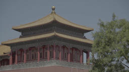 Beijing. China. The building in the national style in the Forbidden City Live Action