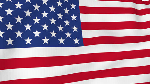 USA American flag waving in the wind. America strong. 4K 3D Animation Animation