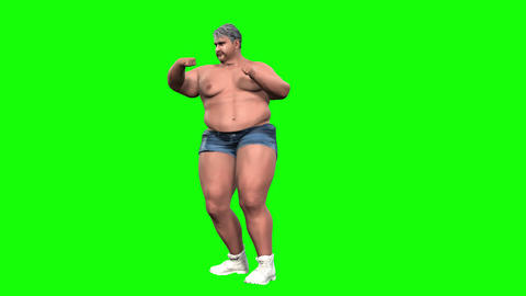 835 4K SPORT HEALTH 3D computer fat mortph man with boxing reduces weight CG動画