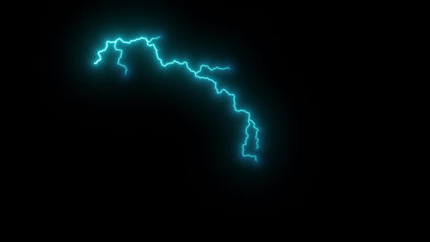 Beautiful multi color Lightning Strikes on Black Background. Electrical Storm. Blue, green, yellow, CG動画