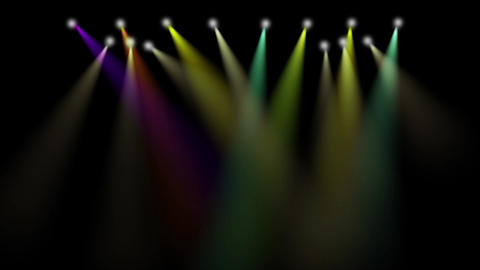Free stage with lights. Stage lighting background. Concert light Live Action