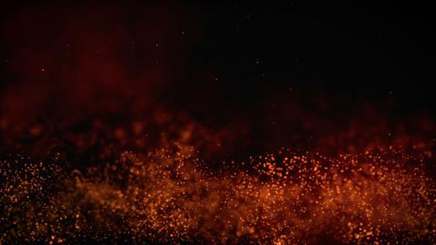 Orange Particles Bokeh Animation