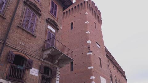 Architectural detail of the Palazzo del Municipio in Ferrara in Italy 6 Live Action