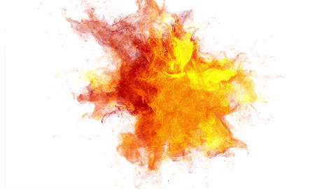 Color Burst colorful orange smoke powder explosion fluid ink particles alpha Animation