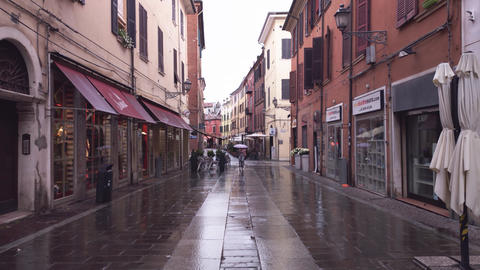 Evocative view of a street in the historic center of Ferrara 4 Live Action