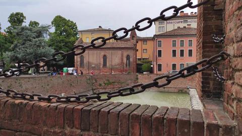 Medieval castle of Ferrara the historical Italian city 5 Live Action