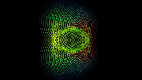 Fantastic video animation with moving particle stripe object, loop HD Animation