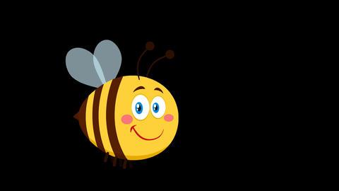 Cute Bee Cartoon Character Flying Animation