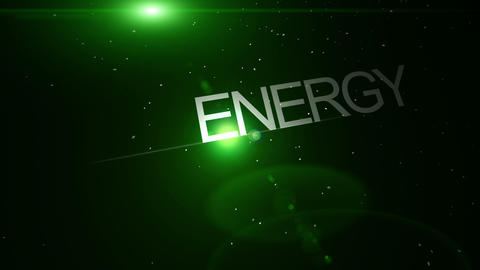 Futuristic technology light video animation with text ENERGY, loop HD Animation