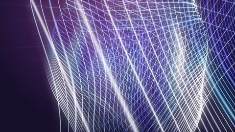 Fantastic video animation with particle wave object in motion, loop HD Videos animados