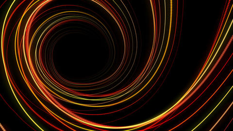 Fantastic video animation with moving particle stripe object, loop HD Videos animados