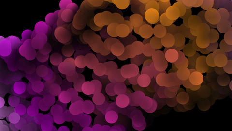 Wonderful video animation with bubbles in motion, loop HD CG動画