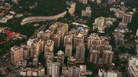 Aerial shot or urban architecture - Rio de Janeiro Brazil Live Action