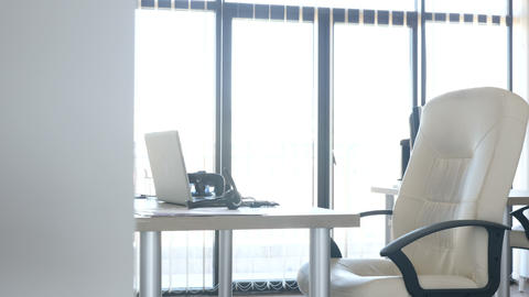 Business Office Interior with Nobody in It Live Action