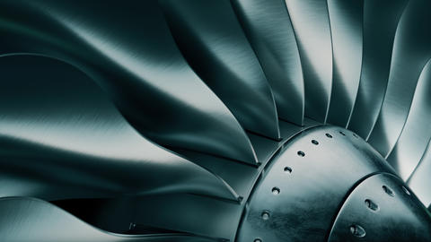 Turbine blades of airplane, Jet engine Videos animados