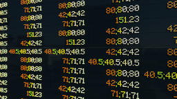Stock Market Board, chaos quotations Animation