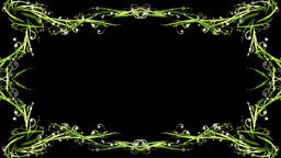 Stylish green swirls frame Animation