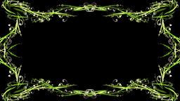 Stylish green swirls frame Animation