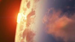 Sunrise timelapse clouds, camera rolling Animation