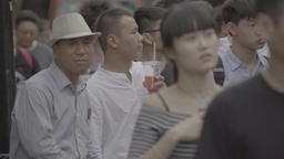 A lot of people. Beijing. China. City street with people Footage