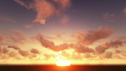 Sunset, timelapse clouds Animation