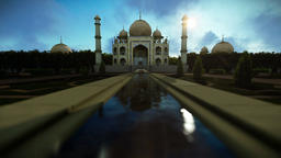 Taj Mahal on a beautiful morning Animation