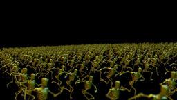 Test Robot Crowd Running Animation
