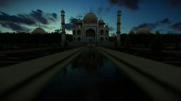 Taj Mahal, beautiful timelapse sunrise Animation