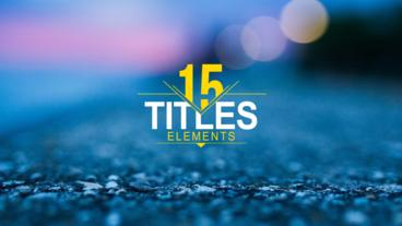 15 Titles Package After Effects Project