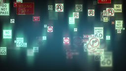 Traffic Signs Background Footage