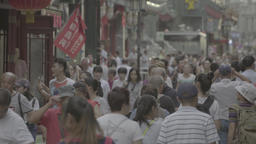 A lot of people on the streets of Beijing. Urban views of the city Footage