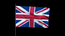 United Kingdom Flag Waving, Seamless Loop Animation