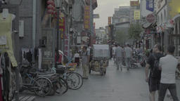 Street in Beijing. China. Views of the city Footage